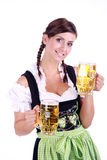 Oktoberfest. Bavarian woman celebrating the oktoberfest stock images