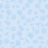 Oktoberfest啤酒节日 无缝的模式 免版税库存图片