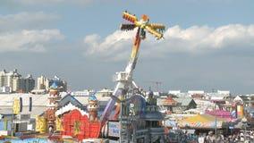Oktoberfest aerial view stock video footage