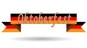 Oktoberfest auf Deutschland-Flagge, flache Vektorillustration, Broschüre, Fahne, Logofestival vektor abbildung