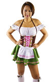 Oktoberfest azjatycka Kelnerka Zdjęcia Royalty Free