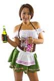 Oktoberfest azjatycka Kelnerka Obrazy Stock