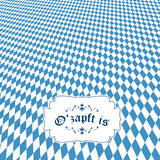 Oktoberfest background with banner O'zapft is Stock Image