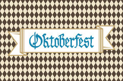 Oktoberfest background with banner and text Oktoberfest vector. Art Royalty Free Stock Images