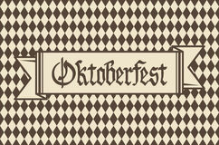 Oktoberfest background with banner and text Oktoberfest vector. Art Stock Photography