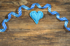 Oktoberfest background with bavarian blue and white colors decoration. Royalty Free Stock Photo