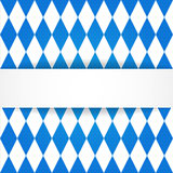 Oktoberfest  background. Bavarian flag patter Royalty Free Stock Photos