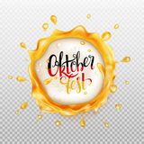Oktoberfest background. Beer frame. Royalty Free Stock Image