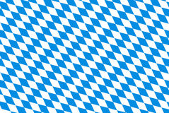 Oktoberfest background with blue checked repeatable rhombus.  Stock Images