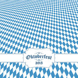 Oktoberfest background with blue-white checkered pattern Stock Photography