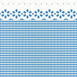 Oktoberfest background with blue-white checkered pattern Royalty Free Stock Images