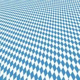 Oktoberfest background blue-white checkered Stock Image