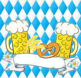 Oktoberfest background with copy space. Vector illustration of a oktoberfest background with copy space Stock Photos