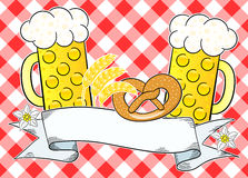 Oktoberfest background with copy space Stock Images