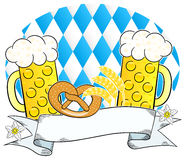 Oktoberfest background with copy space. Vector illustration of a oktoberfest background with copy space Stock Image