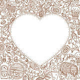 Oktoberfest background with doodle heart Stock Images