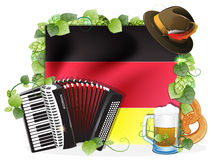 Oktoberfest background with German flag Royalty Free Stock Photos
