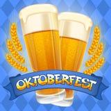 Oktoberfest bakgrund royaltyfri illustrationer