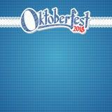 Oktoberfest bakgrund 2018 med den blåvita rutiga modellen vektor illustrationer