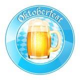 Oktoberfest banner with beer mug vector illustration