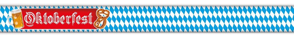 Oktoberfest Banner Beer Pretzel Bavarian Header Royalty Free Stock Images