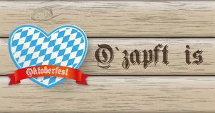 Oktoberfest Banner Heart Wood Royalty Free Stock Photography