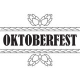 Oktoberfest. Banner or poster autumn festival with cones of hops. Stock Image