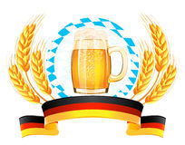 Oktoberfest banner with wheat ears Royalty Free Stock Photography