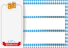 Oktoberfest 3 Banners Beer Ribbon Royalty Free Stock Image