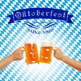 Oktoberfest in Bavaria with beer Royalty Free Stock Image
