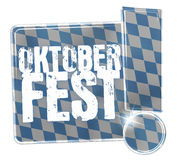 Oktoberfest Bavaria Button Icon Design Stock Image