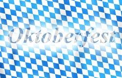 Oktoberfest Bavaria Flag Design Stock Photography