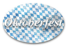 Oktoberfest Bavaria Flag Design Royalty Free Stock Photo