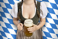 oktoberfest bavarian kelnerka Obraz Stock