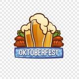 Oktoberfest bavarian logo, kreskówka styl ilustracji