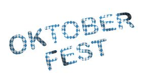 Oktoberfest Bayern flagga med den mest oktoberfest inskriften arkivfilmer