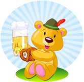 Oktoberfest bear Royalty Free Stock Image
