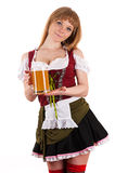 Oktoberfest beautiful girl with beer Stock Photo