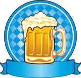 Oktoberfest beer stock illustration
