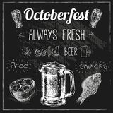 Oktoberfest beer design royalty free stock image