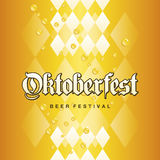 Oktoberfest Beer Festival Bavarian gold yellow drops background. Vector Royalty Free Stock Photography