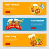 Oktoberfest Beer Festival Banners Royalty Free Illustration