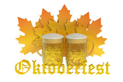 Oktoberfest Beer Festival concept. Isolated on white background Royalty Free Stock Photography