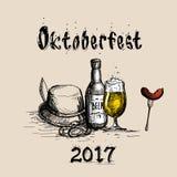 Oktoberfest Beer Festival Holiday Decoration Banner Stock Images