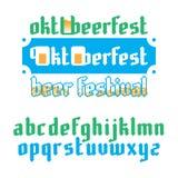 Oktoberfest beer festival lettering Stock Photo