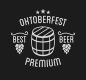 Oktoberfest beer festival lettering typography celebration retro typographic design Royalty Free Stock Photos