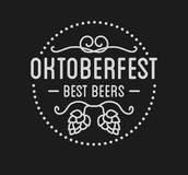 Oktoberfest beer festival lettering typography celebration retro typographic design Stock Image