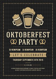 Oktoberfest beer festival poster or flyer template Stock Images