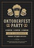 Oktoberfest beer festival poster or flyer template Stock Images