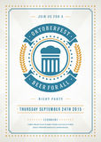 Oktoberfest beer festival poster or flyer template Royalty Free Stock Photo